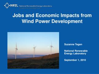 Jobs and Economic Impacts from Wind Power Development