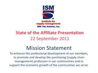 ISM- San Antonio, Inc.