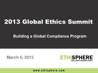 Building a Global Compliance Program