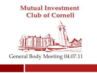 General Body Meeting 04.07.11