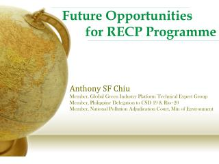 Future Opportunities         for RECP  Programme