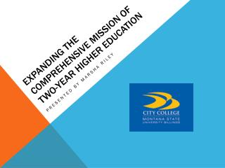Expanding the comprehensive mission of two-year higher education