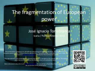 The fragmentation of European power