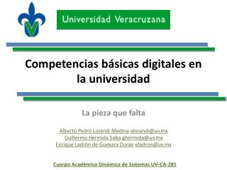 Competencias básicas digitales en la  universidad