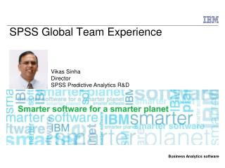 SPSS Global Team Experience