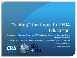 """Scaling"" the Impact of EDA Education"