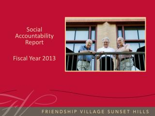 Social Accountability Report Fiscal Year 2013