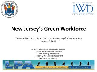 New Jersey�s Green Workforce