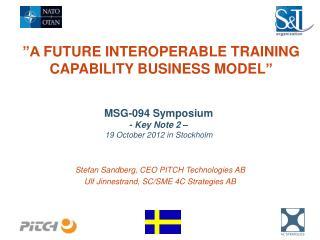 """A  future  interoperable  Training Capability  Business  Model """