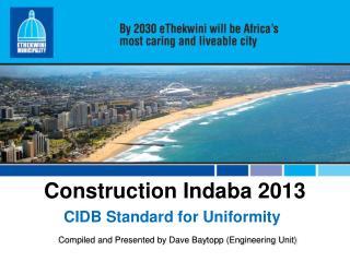 Construction  Indaba 2013