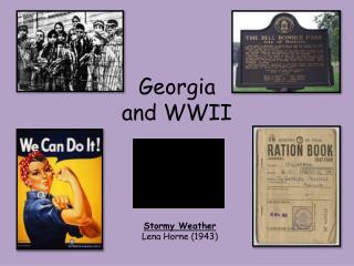 Georgia and WWII