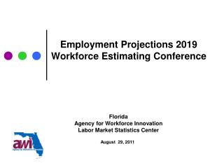 Employment Projections  2019 Workforce Estimating Conference