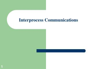 interprocess communications