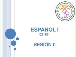 ESPA�OL I 021101