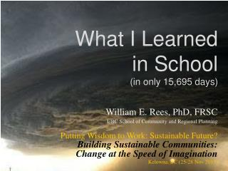 What I Learned  in School (in only 15,695 days)