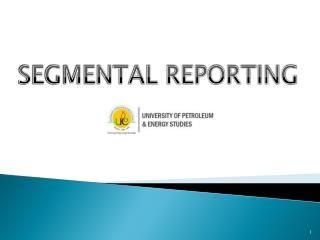 SEGMENTAL REPORTING