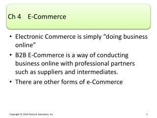 Ch  4    E-Commerce