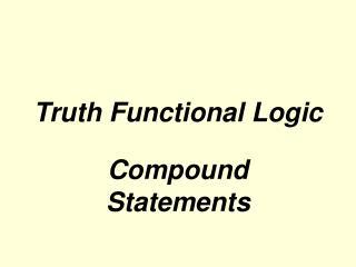 truth functional logic