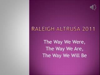 Raleigh Altrusa 2011
