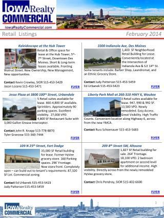 Retail  Listings February  2014