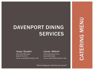 Davenport dining services
