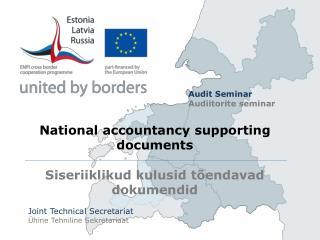 National accountancy supporting documents Siseriiklikud kulusid  tõendavad dokumendid