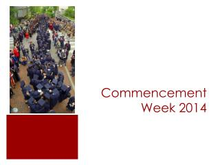 Commencement Week 2014