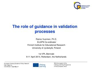 The role of guidance in validation processes