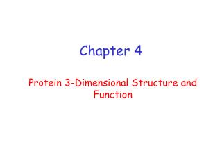protein 3-dimensional structure and function