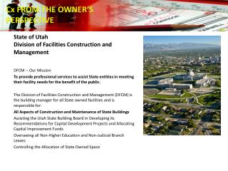 State of Utah Division of Facilities Construction and Management