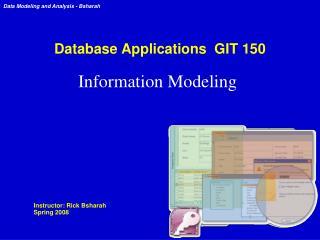 Database Applications  GIT 150