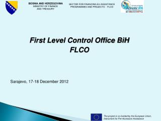 First Level Control Office BiH FLCO