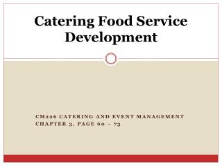Catering Food Service Development