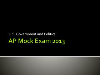 AP Mock Exam 2013