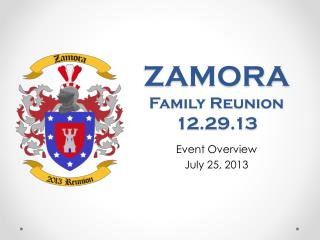 ZAMORA Family Reunion  12.29.13