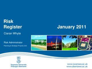 Risk  Register       January 2011