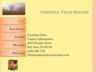 Christina Velez Resume