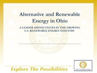 just what do we make in ohio for the alternative  energy industry