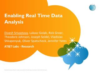Enabling Real Time Data Analysis