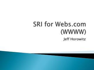 SRI for Webs.com (WWWW)