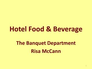 Hotel Food & Beverage