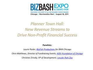 Planner Town Hall: New  Revenue Streams to  Drive Non-Profit Financial Success