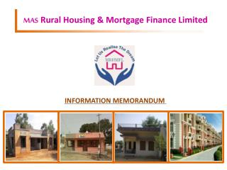 MAS  Rural Housing & Mortgage Finance Limited