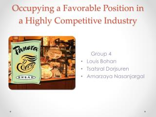Occupying a Favorable Position in a Highly Competitive Industry