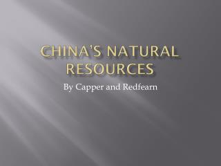 China's Natural Resources
