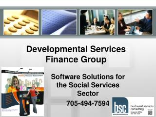 Developmental Services Finance Group