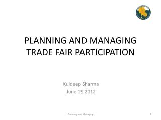 PLANNING AND MANAGING TRADE FAIR PARTICIPATION