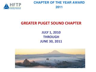 CHAPTER OF THE YEAR AWARD 2011