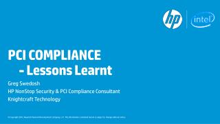 PCI COMPLIANCE  	- Lessons Learnt