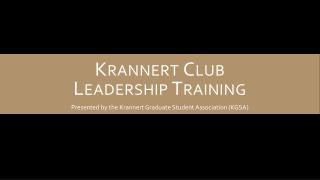 Krannert Club Leadership Training